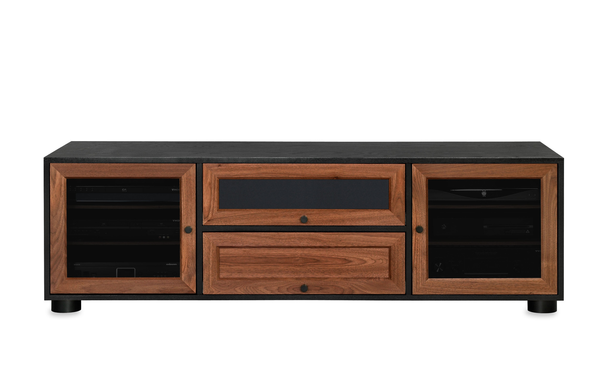 Thrifty Inch Boy Style Wood Tv Stand Rustic Brownwalker Edison Regarding Annabelle Black 70 Inch Tv Stands (View 7 of 20)