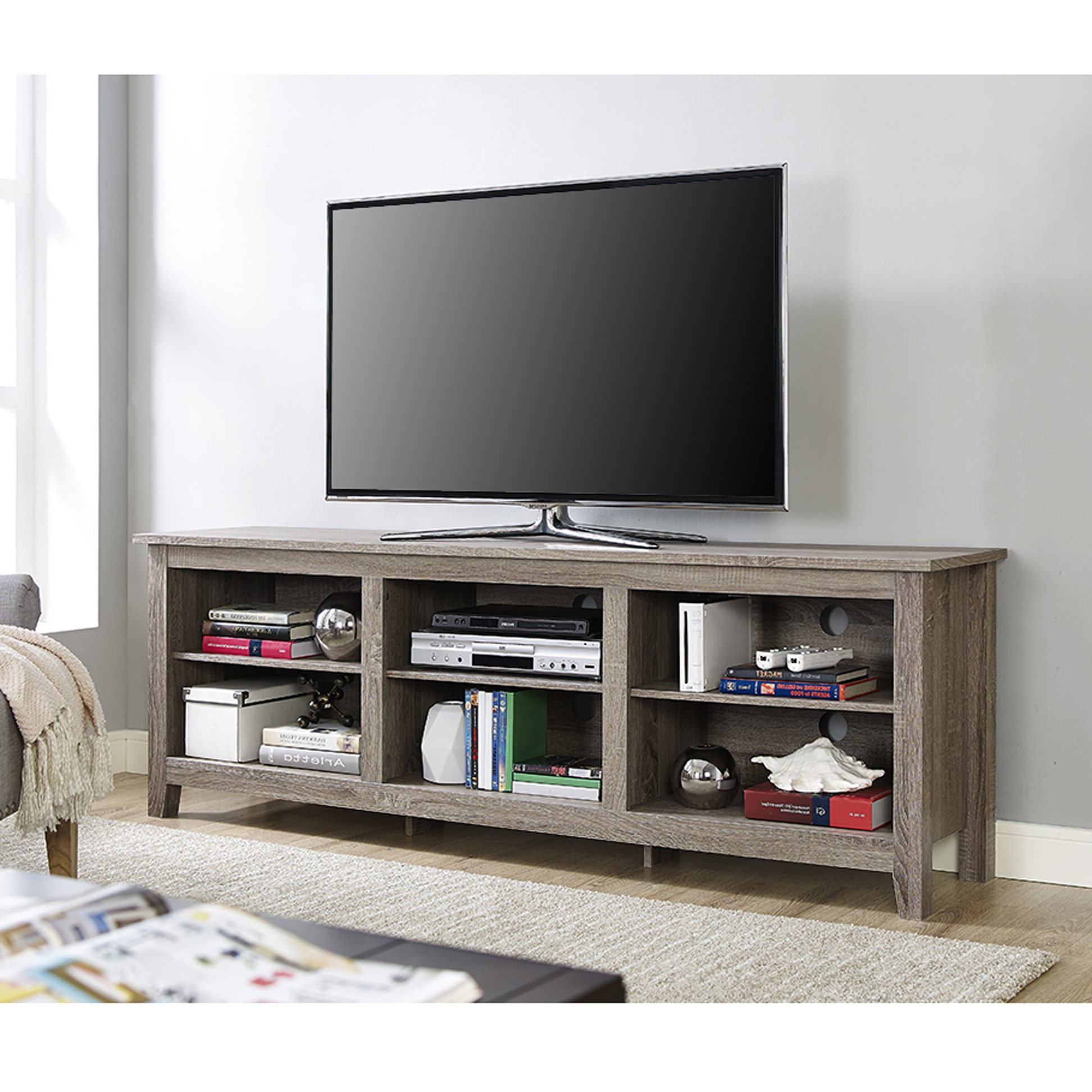 Thrifty Inch Boy Style Wood Tv Stand Rustic Brownwalker Edison With Annabelle Cream 70 Inch Tv Stands (View 9 of 20)