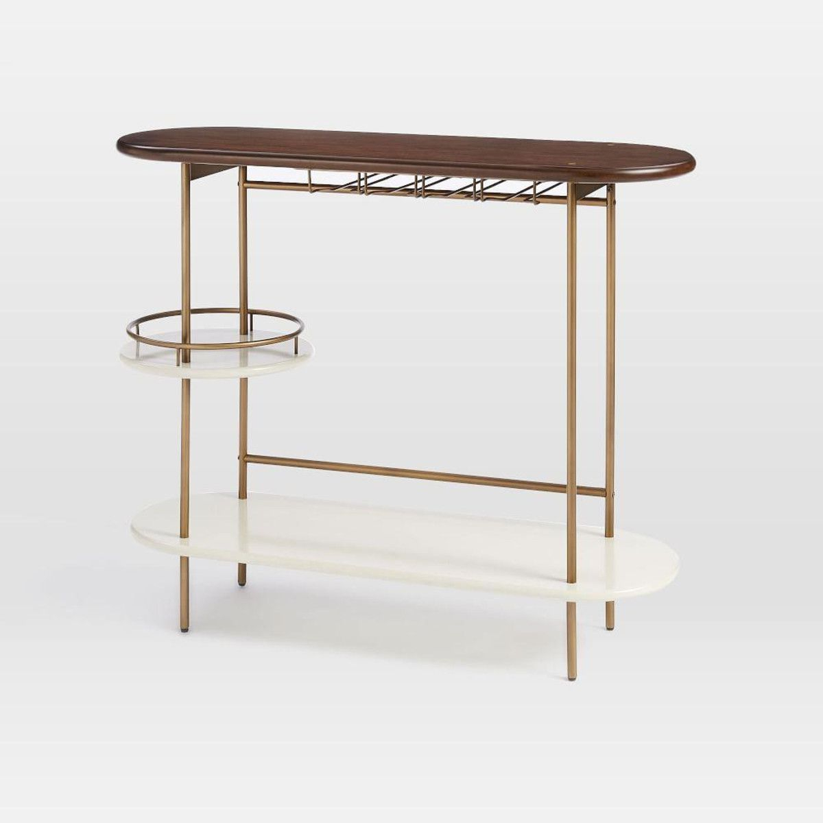 Tiered Bar Console | Bar Carts | Pinterest | Consoles, Bar And Bar Carts Pertaining To Elke Glass Console Tables With Brass Base (View 6 of 20)
