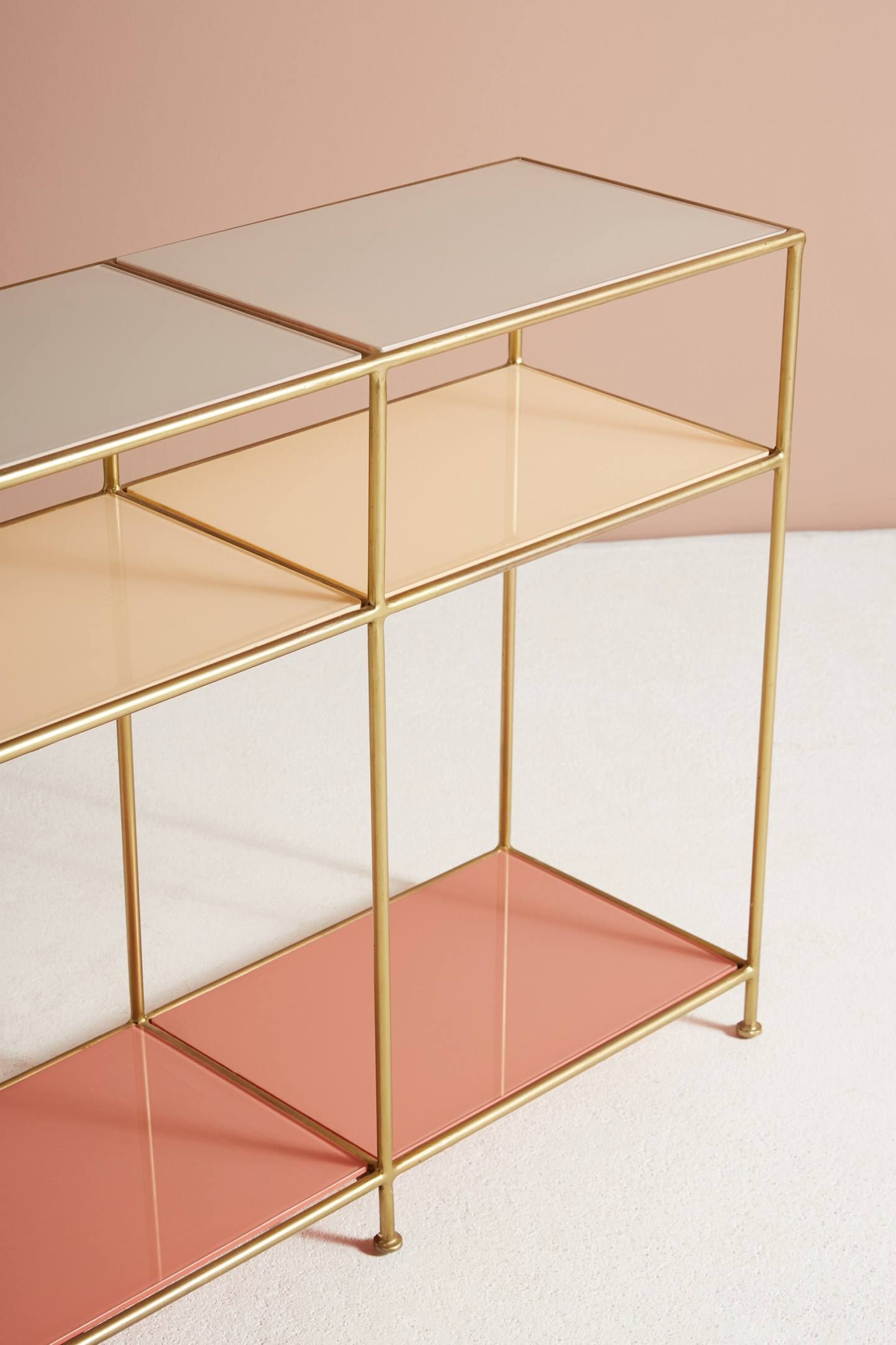Tinted Glass Console Table | Console Tables, Consoles And Credenza For Elke Marble Console Tables With Polished Aluminum Base (View 12 of 20)