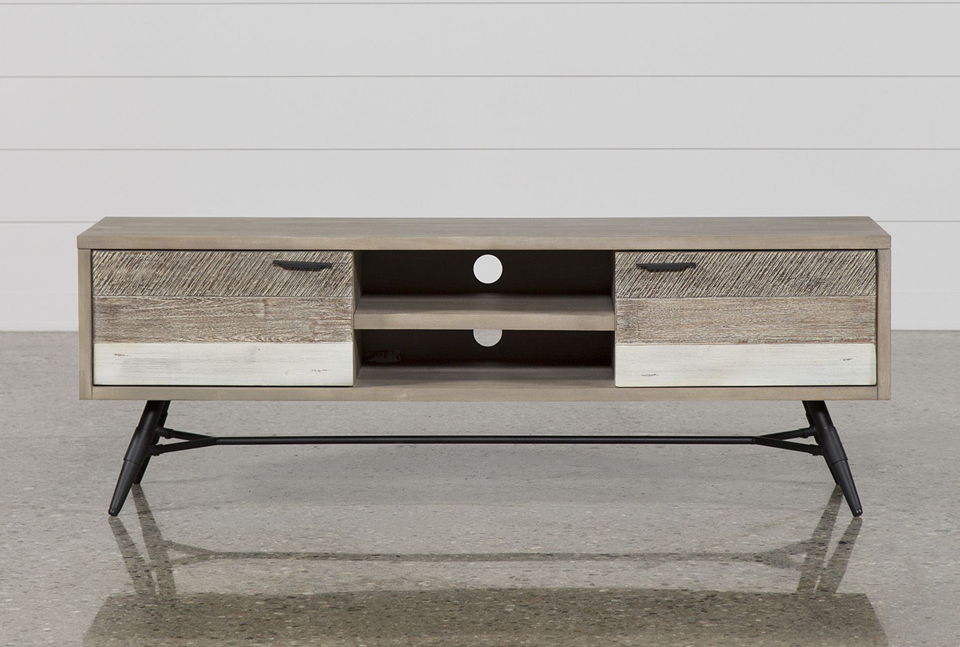 Trendy Canyon 74 Inch Tv Stand Living Spaces Tv Stand For Jacen 78 Inch Tv Stands (View 10 of 20)