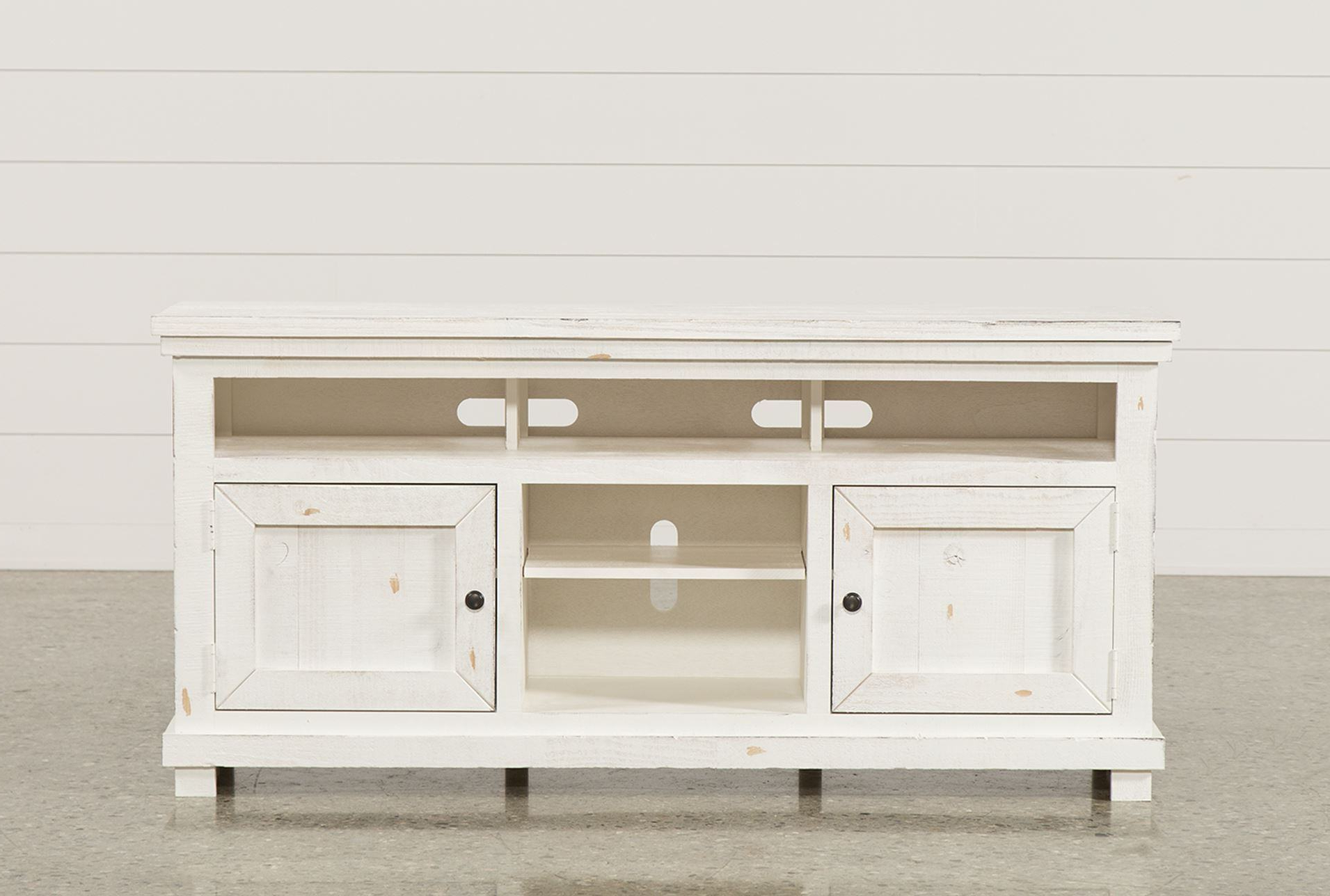 Trendy Canyon 74 Inch Tv Stand Living Spaces Tv Stand Intended For Sinclair White 68 Inch Tv Stands (Gallery 12 of 20)