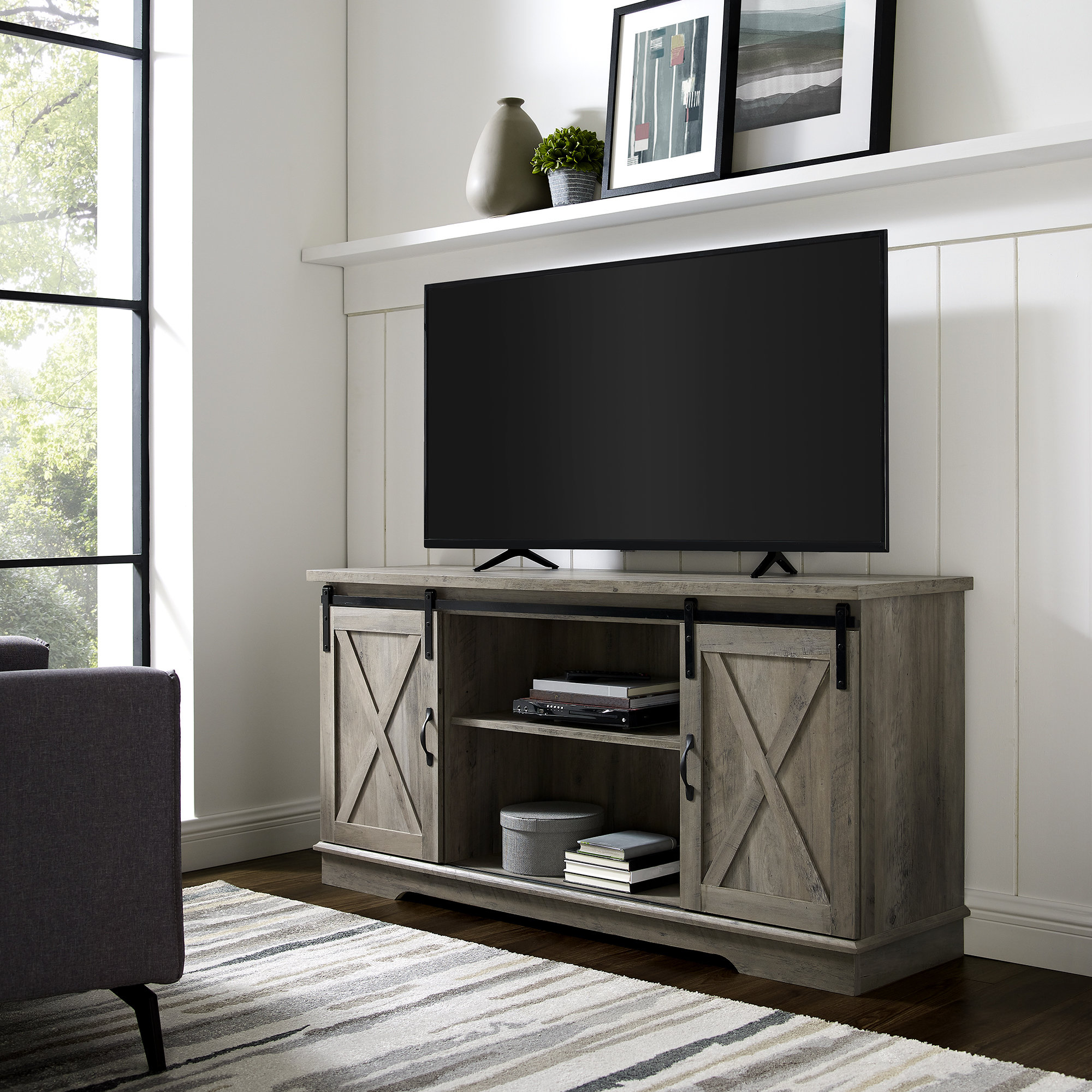 Turquoise Tv Stand | Wayfair Throughout Century White 60 Inch Tv Stands (View 9 of 20)