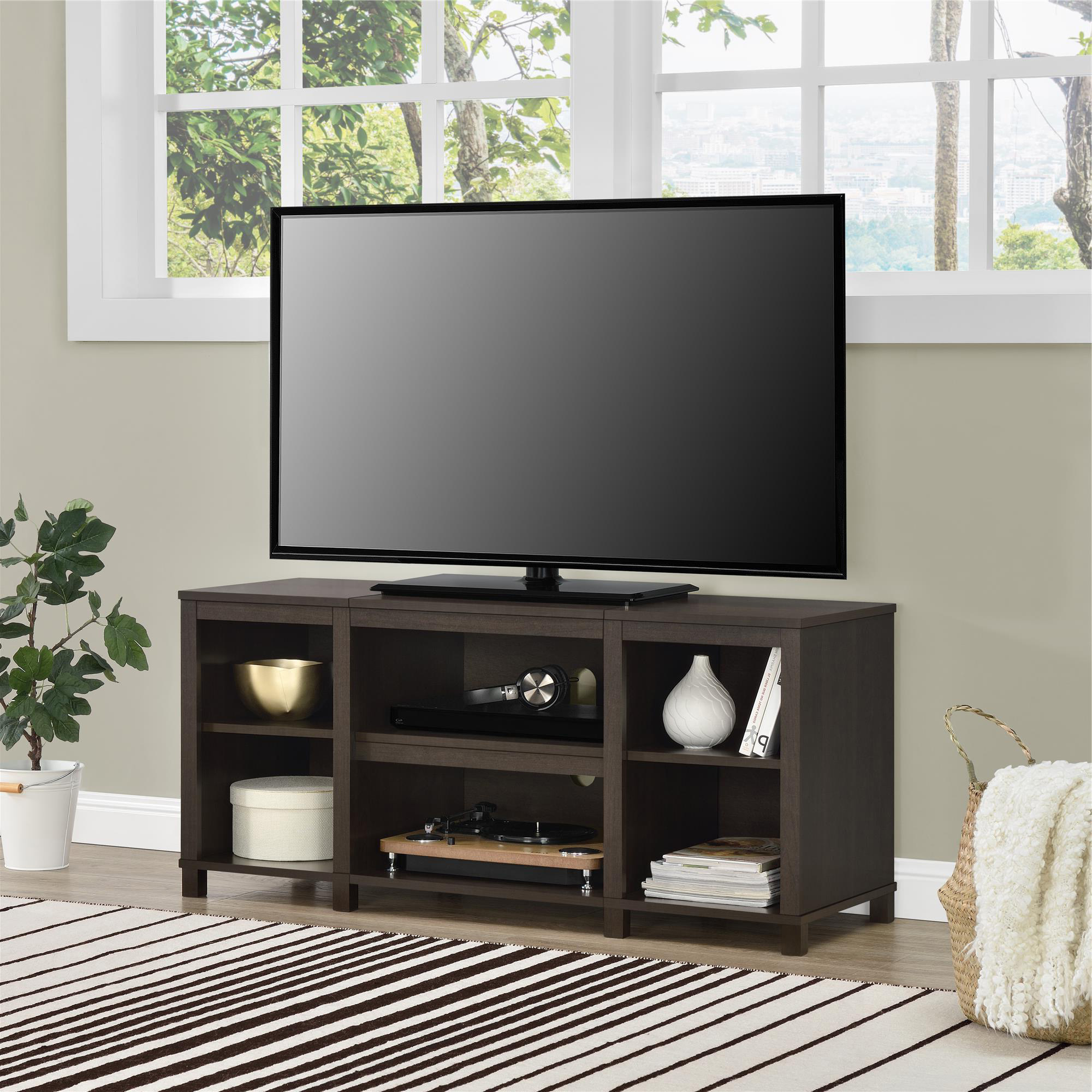 Tv Stand For 50 Inch Tv Media Center Storage Shelves Wood Flat With Regard To Canyon 74 Inch Tv Stands (View 19 of 20)