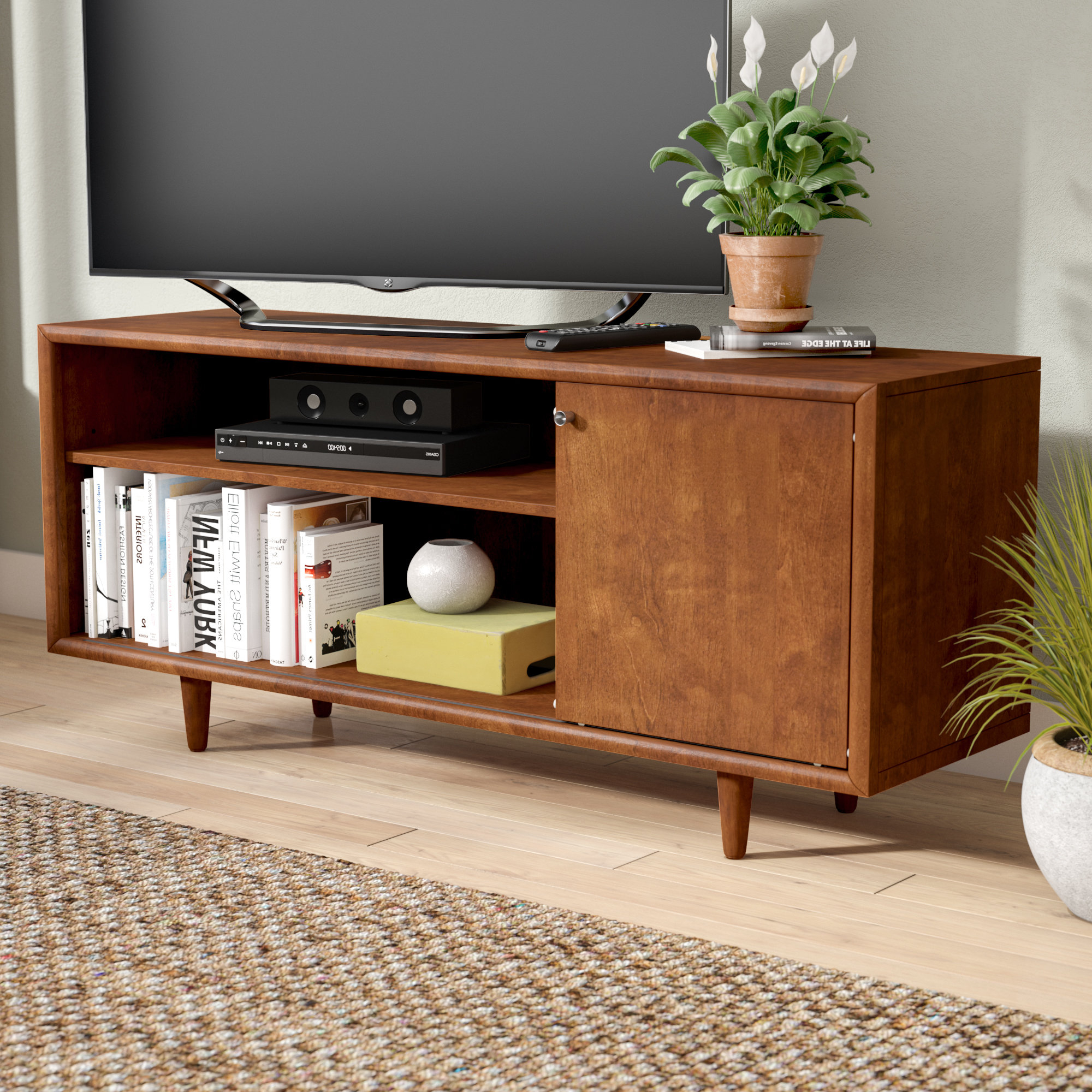 Tv Stand For 75 Inch Tv | Wayfair Pertaining To Century Blue 60 Inch Tv Stands (View 19 of 20)