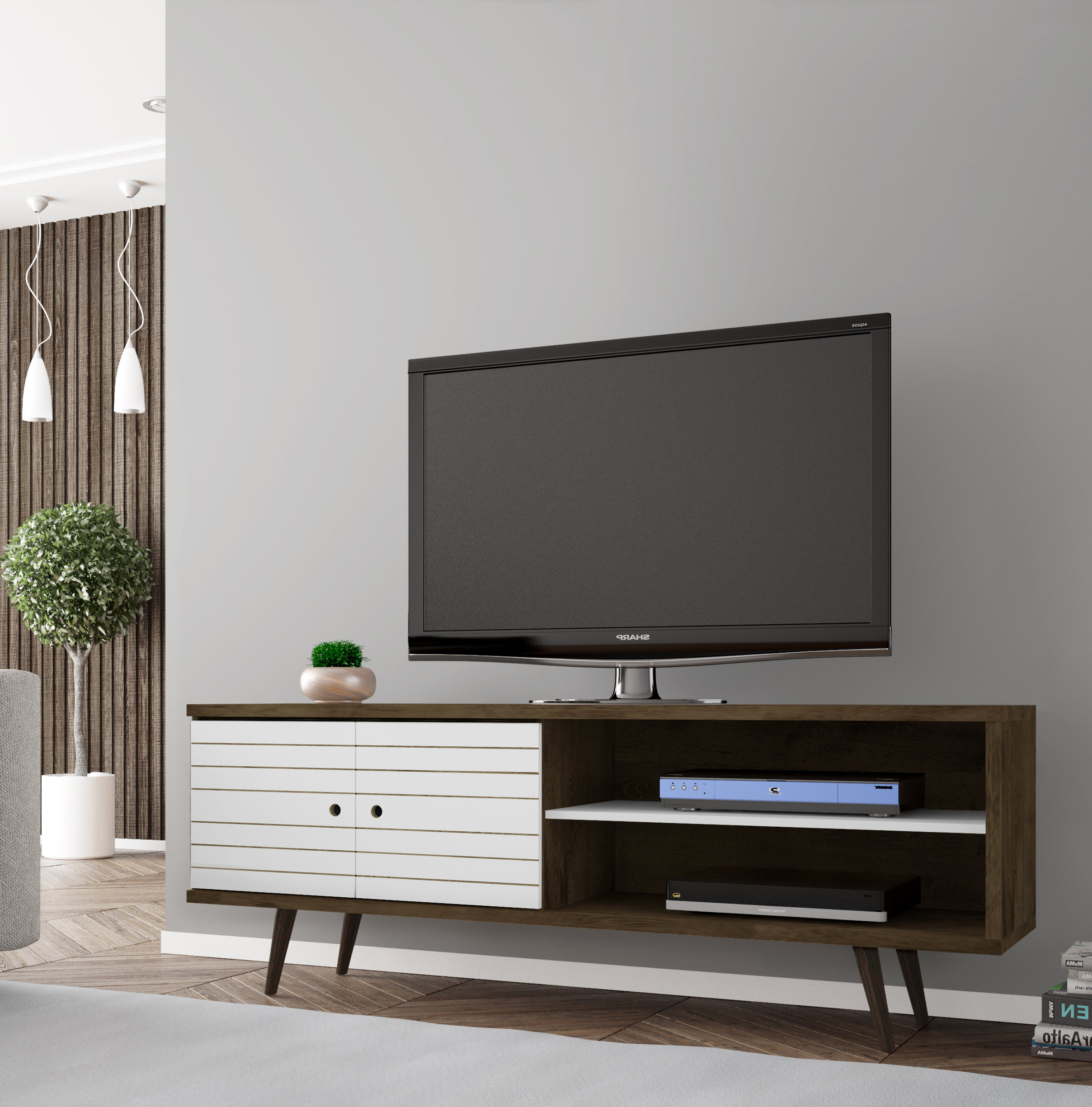 Tv Stand For 75 Inch Tv | Wayfair With Century White 60 Inch Tv Stands (View 14 of 20)