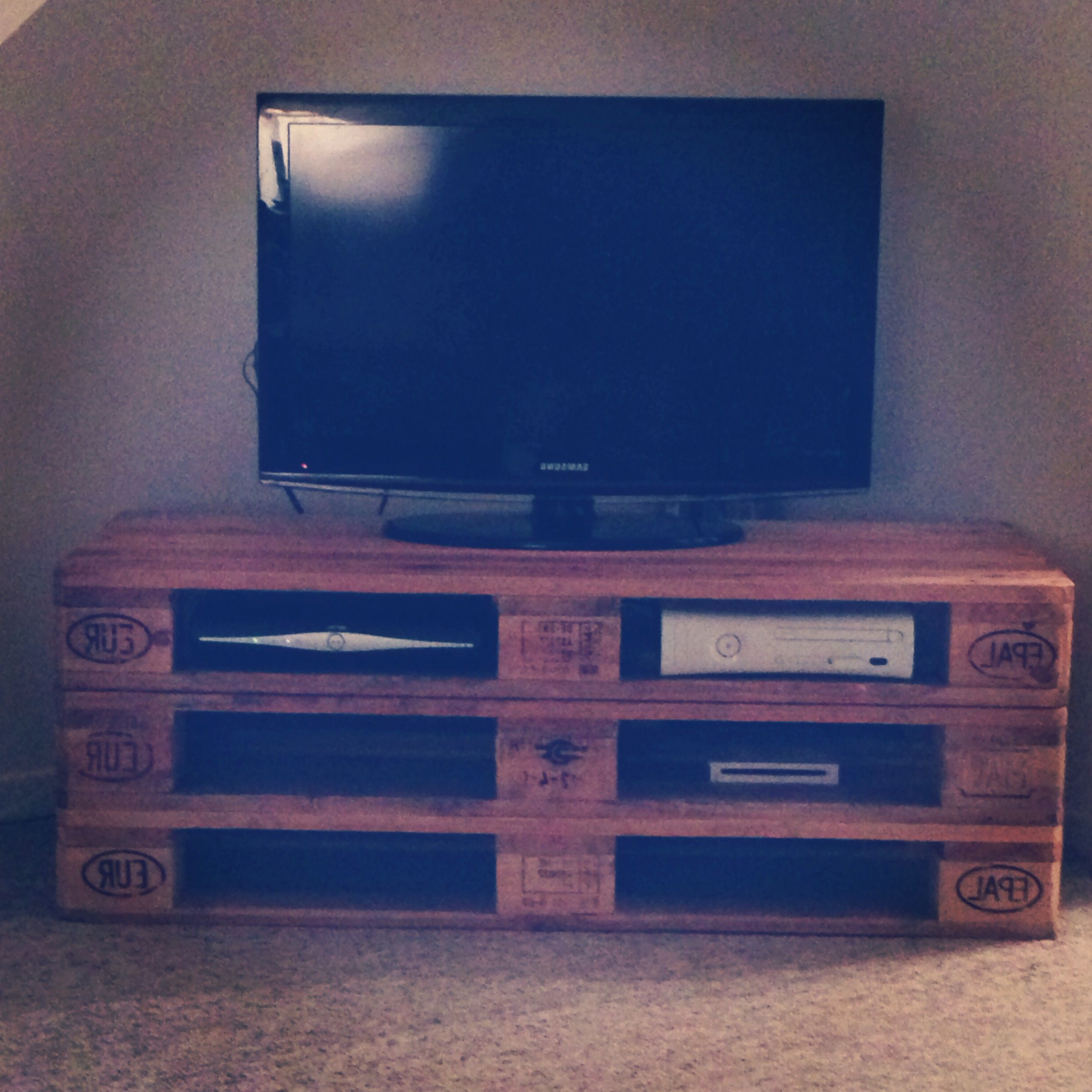 Tv Stand Made From Pallets | Tasarım | Diy Tv Stand, Pallet Tv In Kilian Black 60 Inch Tv Stands (View 15 of 20)