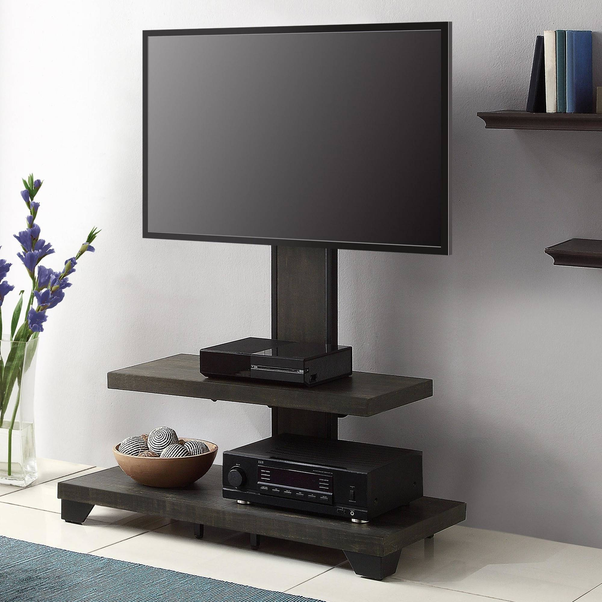 Tv Stand With Mount Swivel Fitueyes Floor For 32 60 Inches Best Regarding Vista 60 Inch Tv Stands (View 17 of 20)