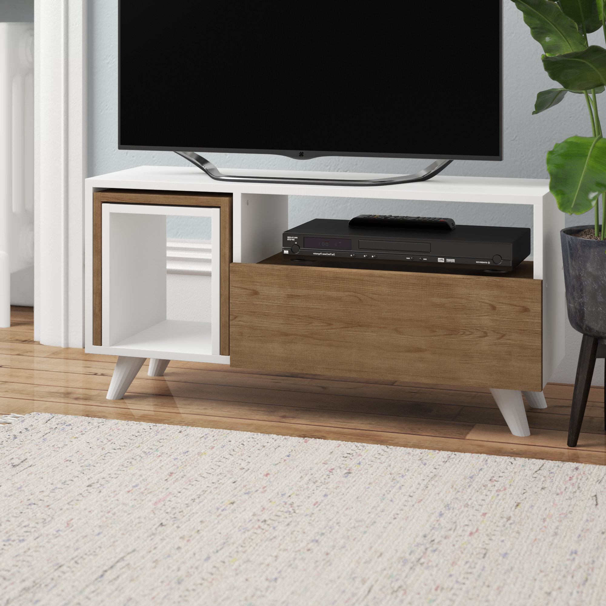 Tv Stand With Side Tables | Wayfair.co (View 19 of 20)