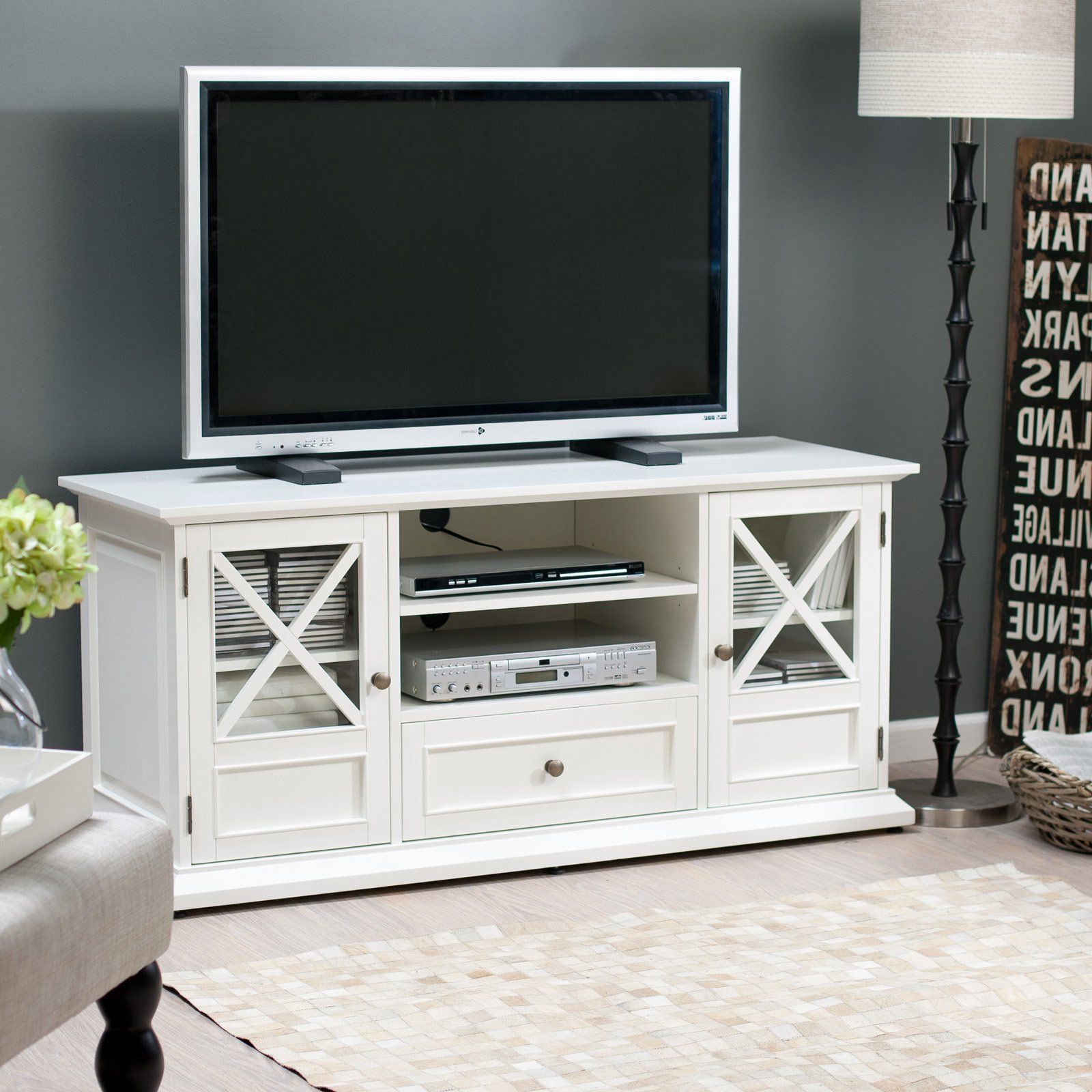 Tv Stands & Entertainment Centers | Hayneedle Inside Century White 60 Inch Tv Stands (View 7 of 20)