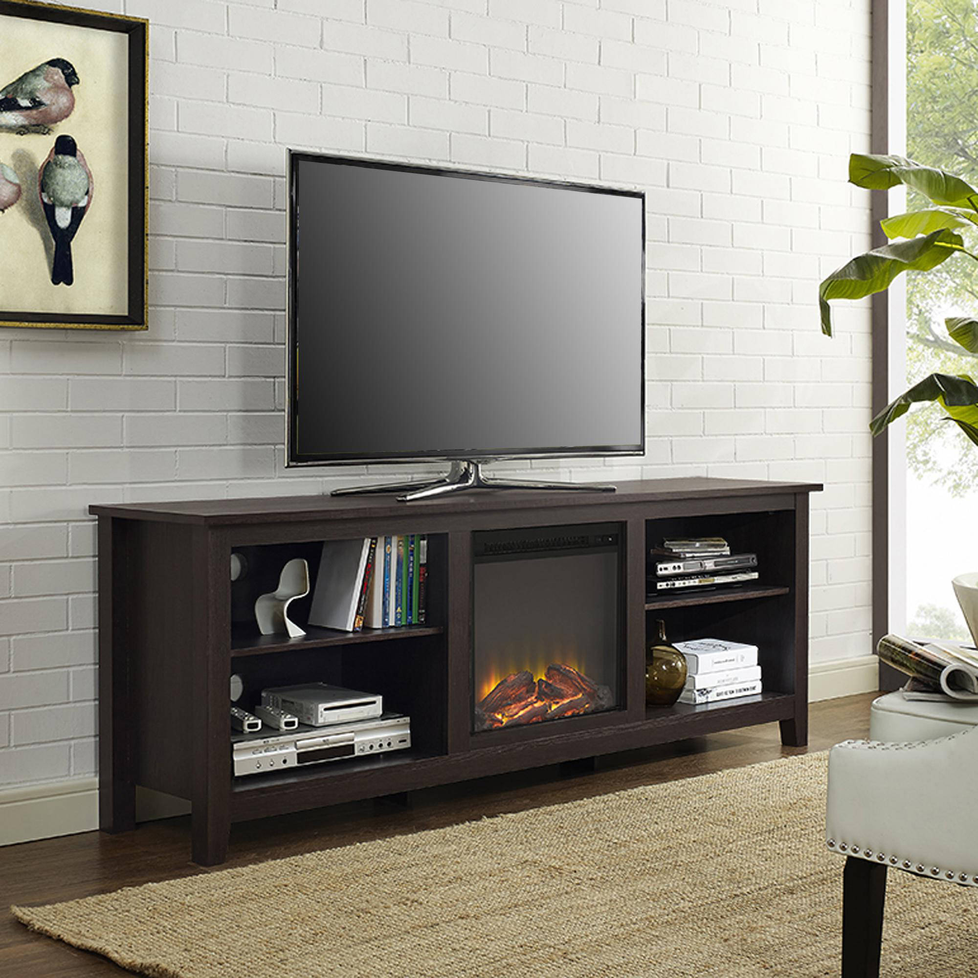 Tv Stands & Entertainment Centers – Walmart Intended For Century White 60 Inch Tv Stands (View 2 of 20)