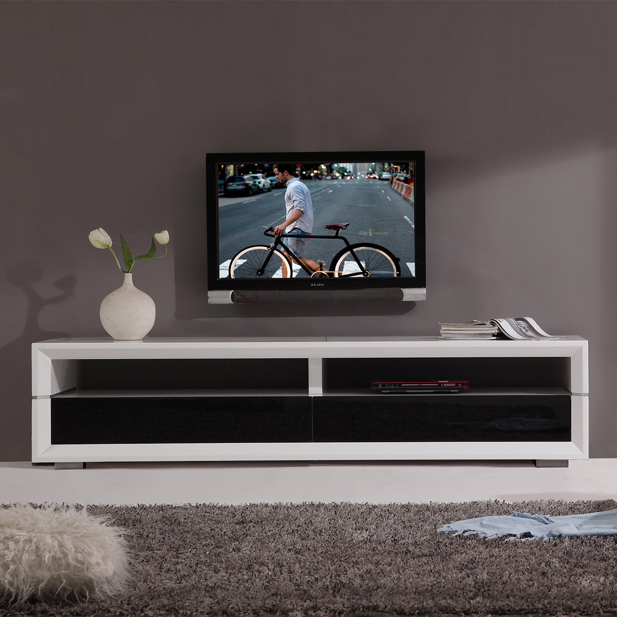Tv Television Stands 71 & Wider Intended For Noah Rustic White 66 Inch Tv Stands (View 9 of 20)