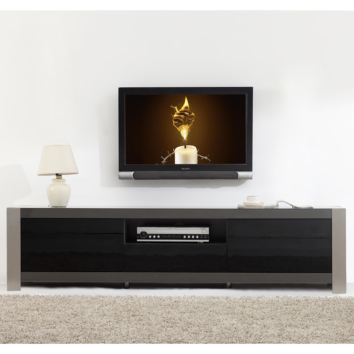 Tv Television Stands 71 & Wider With Regard To Noah Aged Whiskey 66 Inch Tv Stands (View 7 of 20)