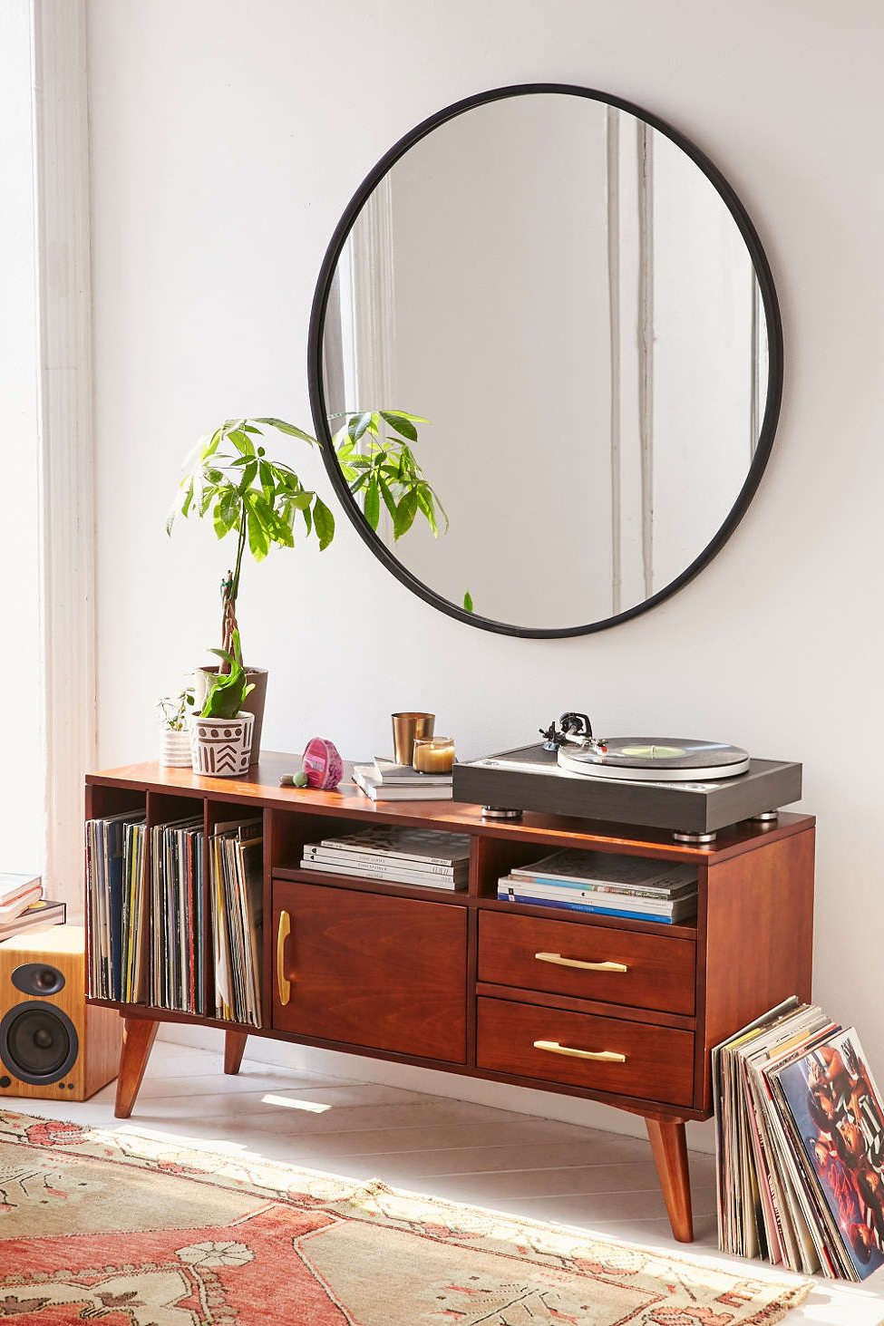 Umbra Oversized Hub Mirror | #uohome | Mirrors Urban Outfitters With Regard To Scattered Geo Console Tables (View 7 of 20)