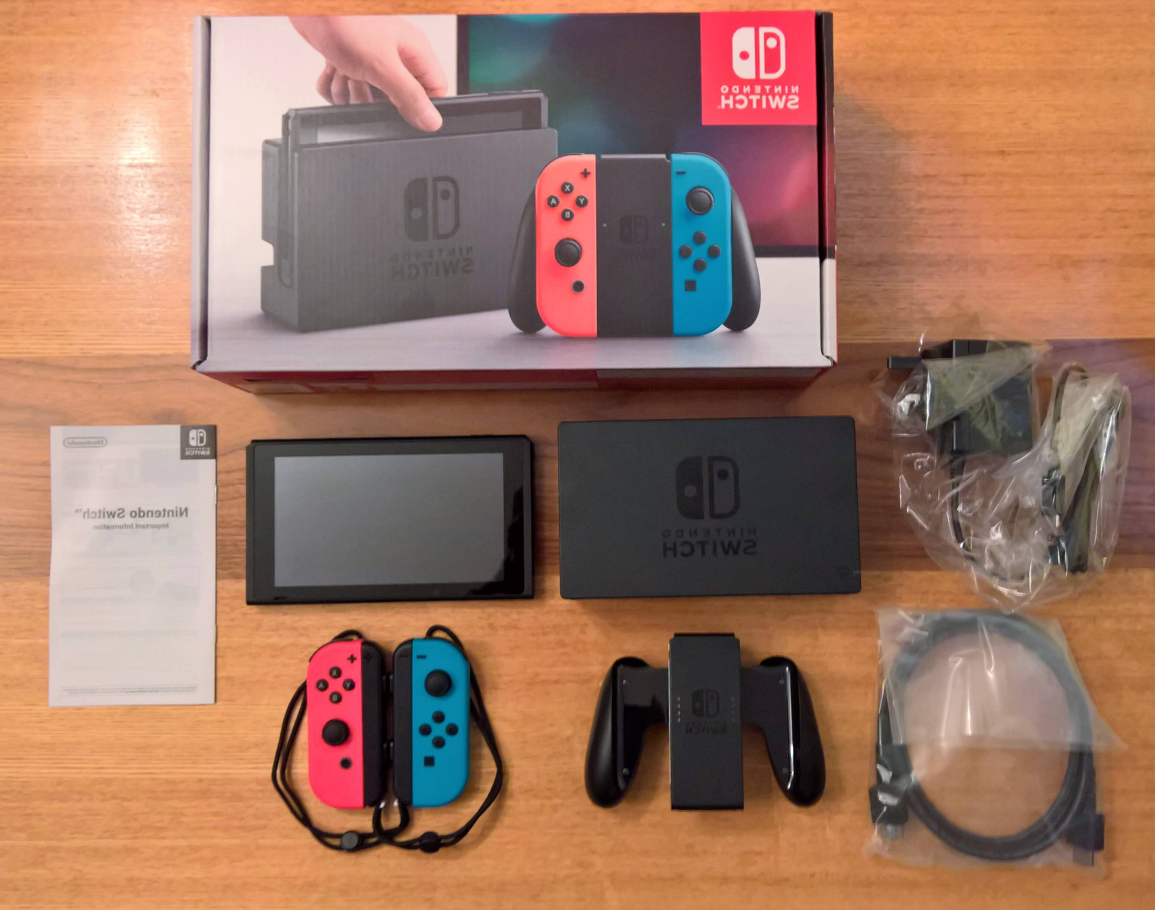 Unboxing Nintendo Switch – What's In The Box? – Ar12gaming In Switch Console Tables (View 20 of 20)