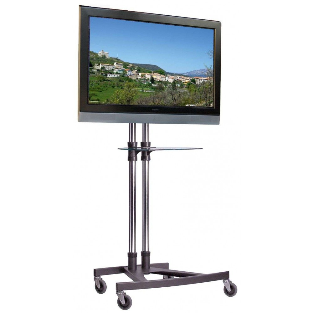 Unicol Vs1000 Modern Business Trolley With Dvd Laptop Shelf Best Uk Within Oxford 70 Inch Tv Stands (View 19 of 20)