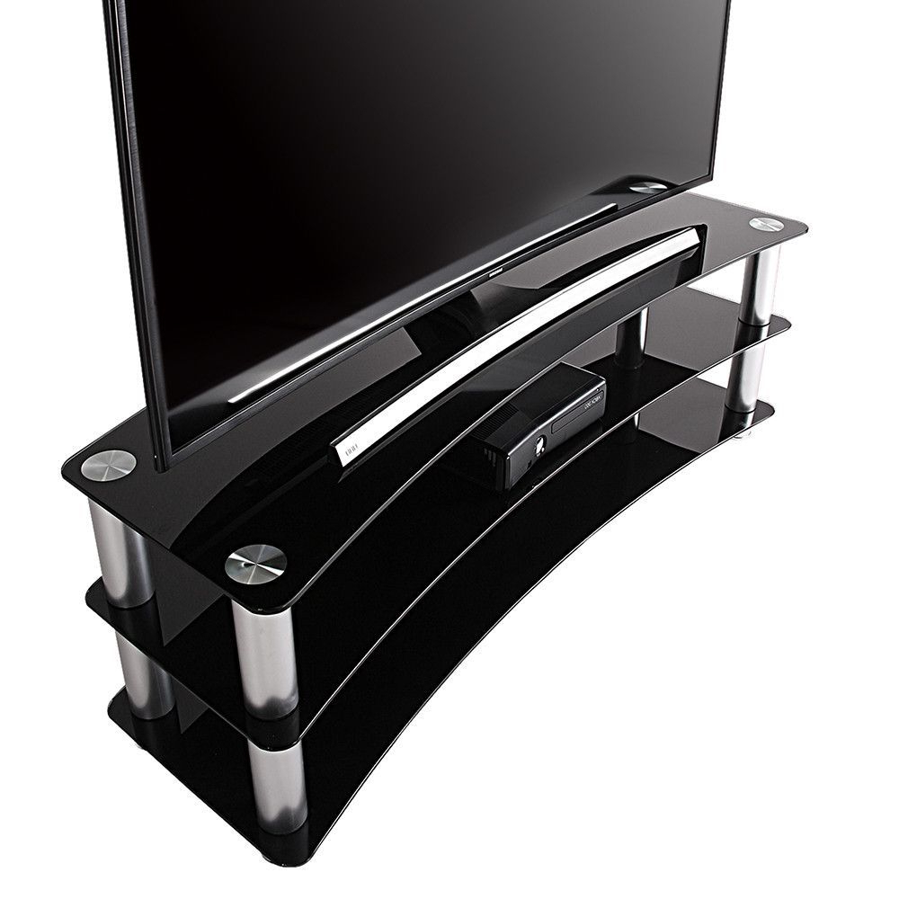 Universal Glass Tv Stand For 24 35 40 42 Up To 46 Inch Samsung Vizio Inside Willa 80 Inch Tv Stands (View 18 of 20)