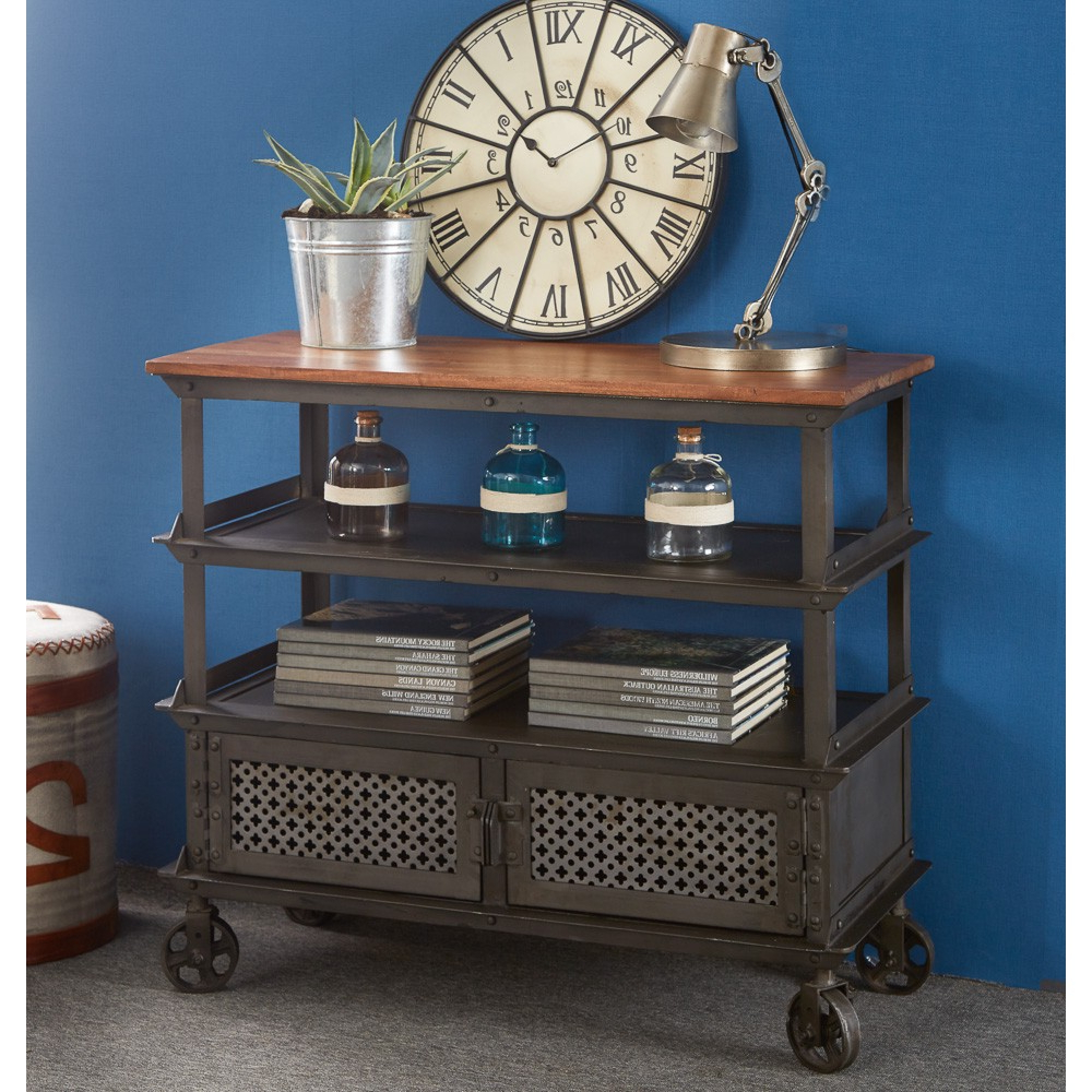 Urban Industrial Console Table With Regard To Natural 2 Door Plasma Console Tables (Gallery 19 of 20)