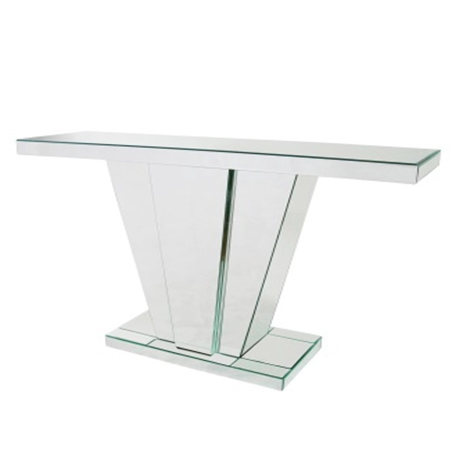 V Frame Mirrored Console Table Abreo Home Furniture Regarding Frame Console Tables (View 14 of 20)