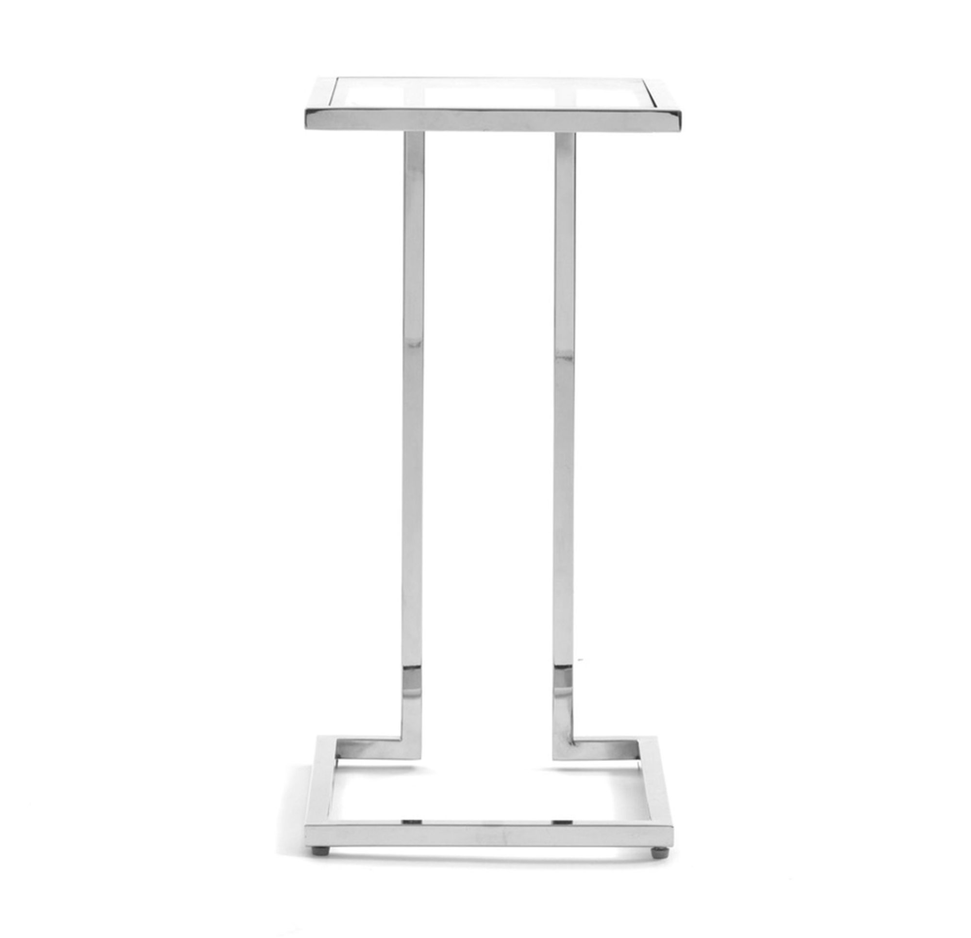 Vienna Pull Up Table – Polished Stainless Steel, | Living Room Pertaining To Parsons Clear Glass Top & Stainless Steel Base 48X16 Console Tables (Gallery 10 of 20)