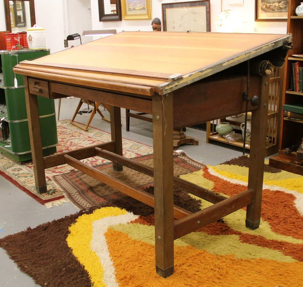 Vintage Hamilton Drafting Table. Steal Legs, Rest Is Oak (View 20 of 20)