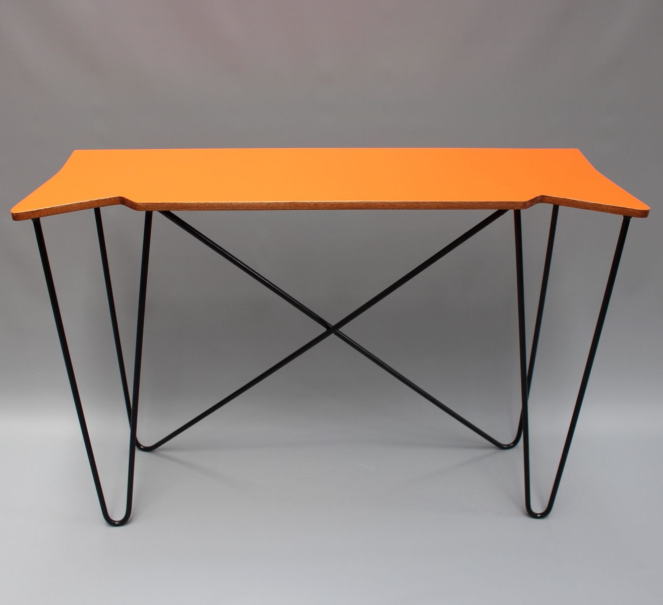 Vintage Orange Console Table 1980s For Sale At Pamono Bone Inlay Regarding Orange Inlay Console Tables (View 4 of 20)