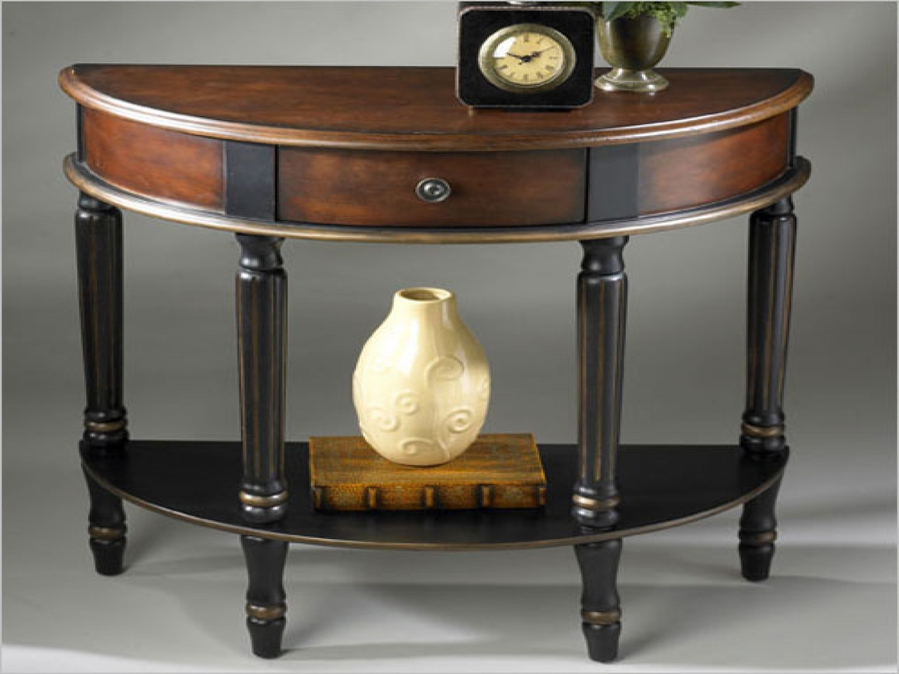 Wall Decoration Tips, Demilune Console Table Clairemont Demilune For Clairemont Demilune Console Tables (Gallery 17 of 20)