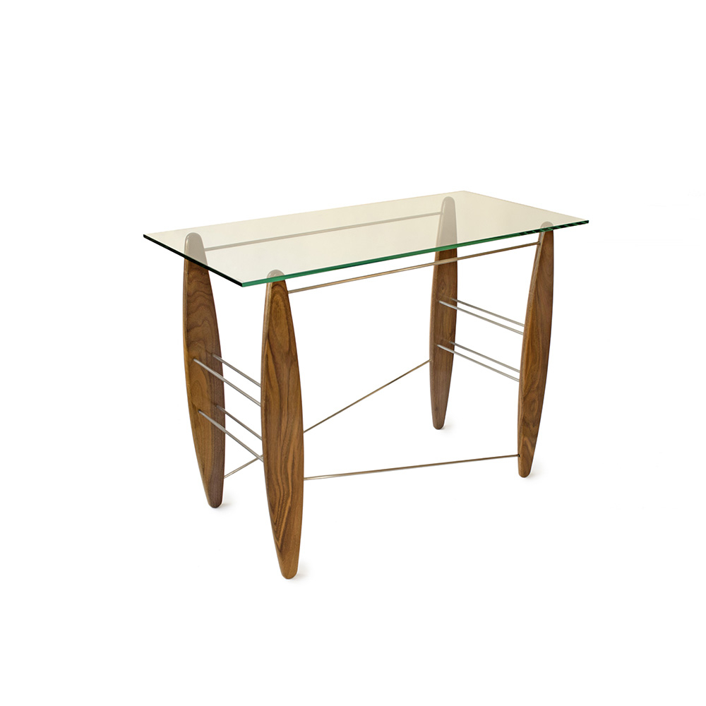 Walnut Console Table | 'surfs Up'john Jacques I Boha Glass In Jacque Console Tables (Gallery 14 of 20)
