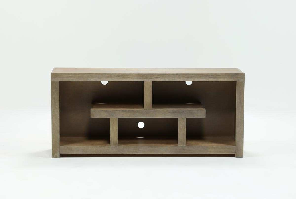 Walton Grey 60 Inch Tv Stand | Living Spaces Regarding Kilian Black 74 Inch Tv Stands (View 3 of 20)