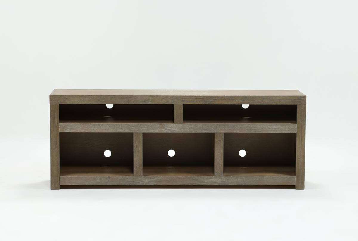 Walton Grey 72 Inch Tv Stand | Living Spaces For Kenzie 72 Inch Open Display Tv Stands (View 14 of 20)