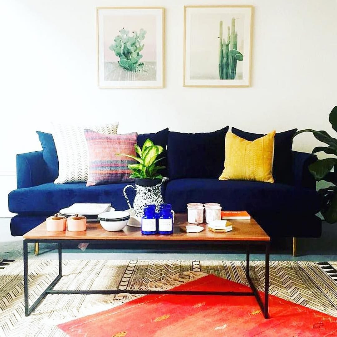 We Can Never Get Enough Of Our Margot Sofa In Velvet Midnight In Tobias Media Console Tables (View 20 of 20)