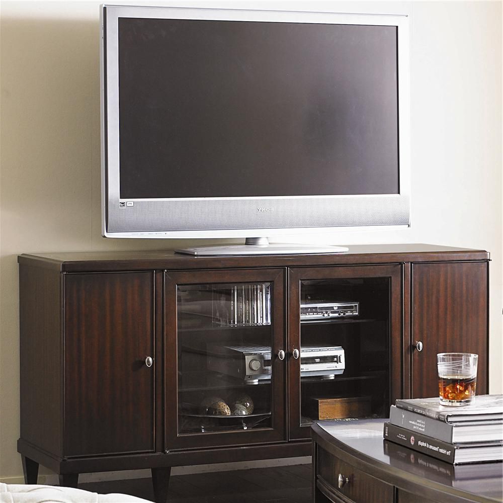 Westwood Contemporary Entertainment Console Base With Doors Regarding Lauderdale 62 Inch Tv Stands (View 12 of 20)