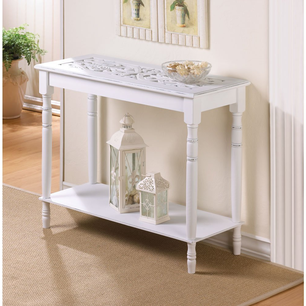 White Distressed Console Table : Console Table – Classic Yet Elegant With Antique White Distressed Console Tables (View 2 of 20)