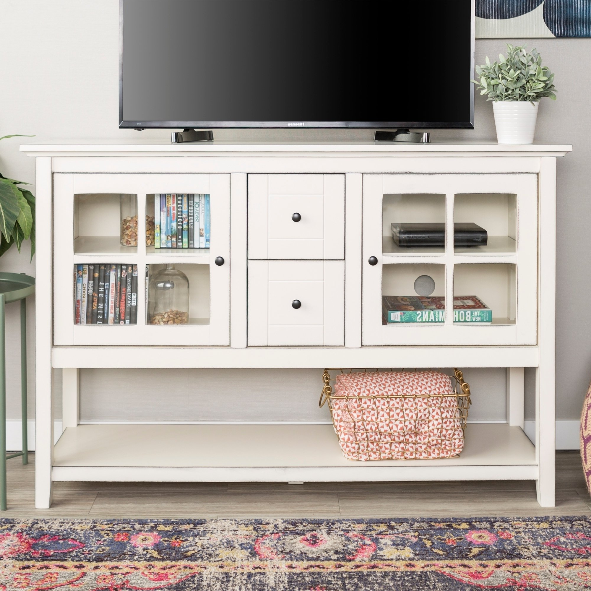 White, Glass Dining Room & Bar Furniture | Find Great Furniture With Casey Grey 54 Inch Tv Stands (Gallery 14 of 20)