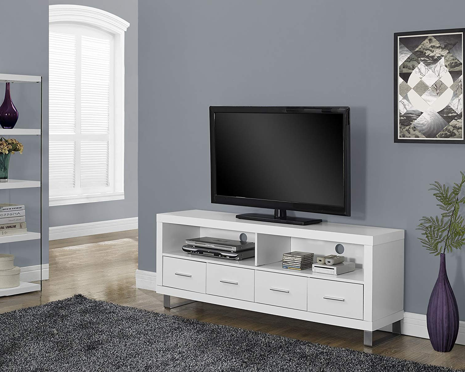 White Tv Console Table Unique Sinclair 74 Inch Stand Living Spaces With Regard To Sinclair Grey 74 Inch Tv Stands (View 18 of 20)