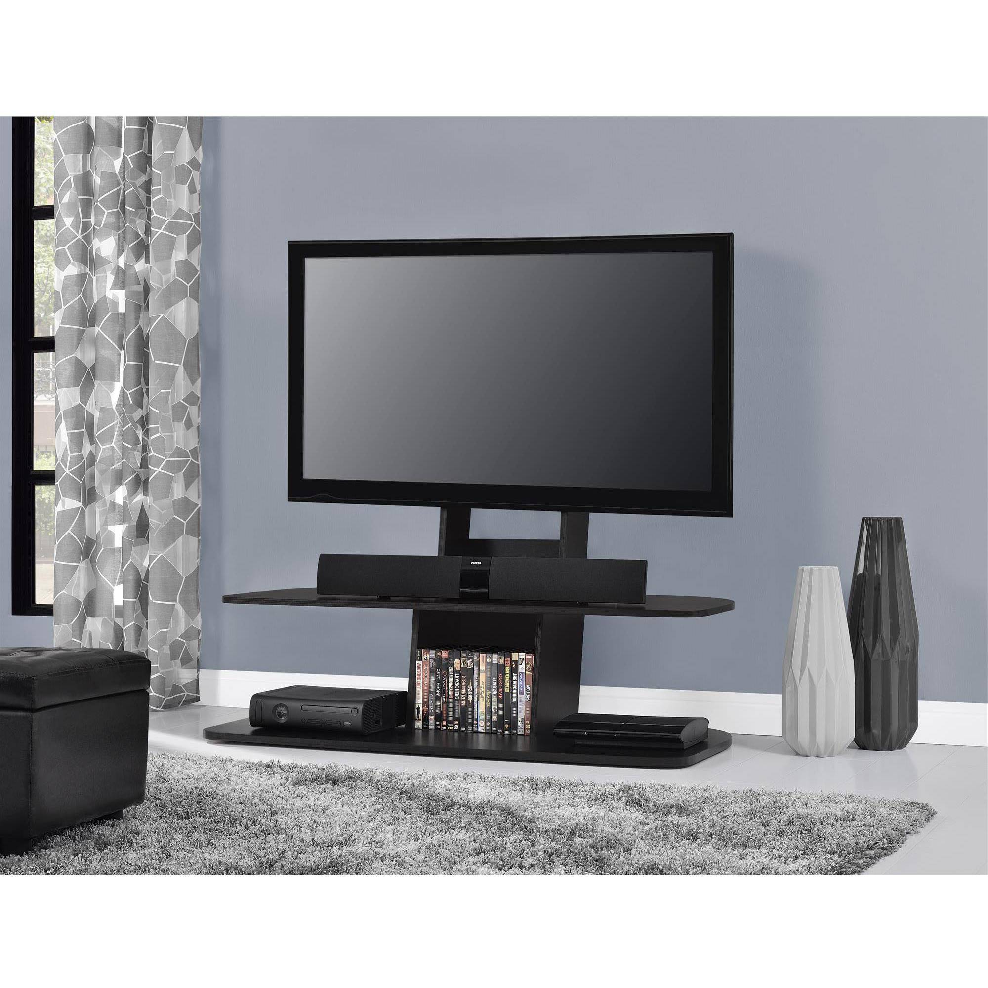White Tv Stand 65 Inch Jigsy Low Tv Stand Modern Grey Finish For Melrose Barnhouse Brown 65 Inch Lowboy Tv Stands (View 7 of 10)