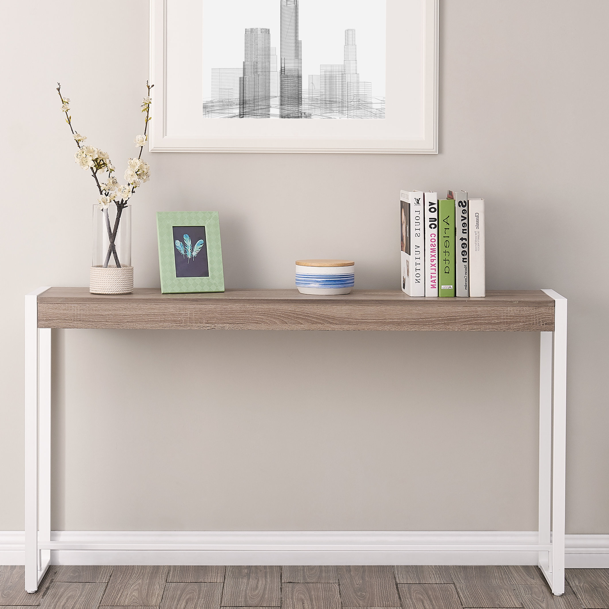 White Washed Console Table | Wayfair For Hand Carved White Wash Console Tables (Gallery 12 of 20)