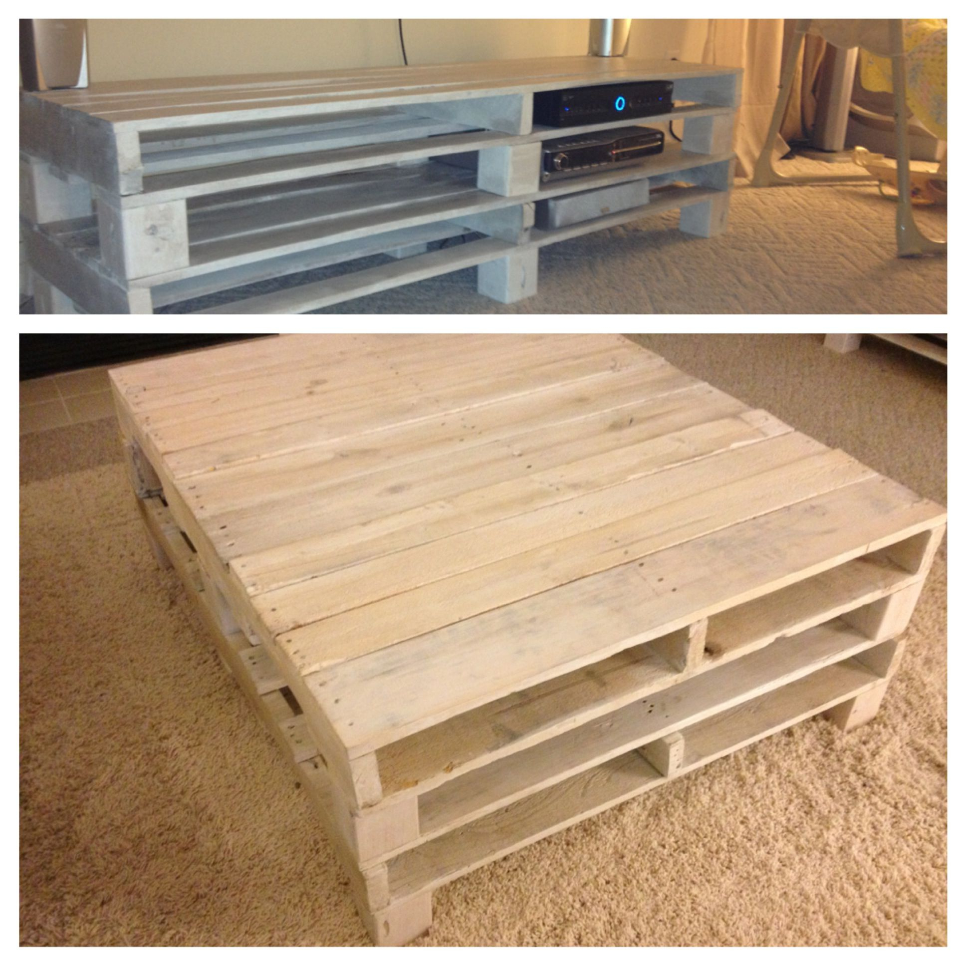 White Washed Recycled Pallets! For Beach Themed Living Room, Coffee Intended For Dixon White 58 Inch Tv Stands (View 16 of 20)