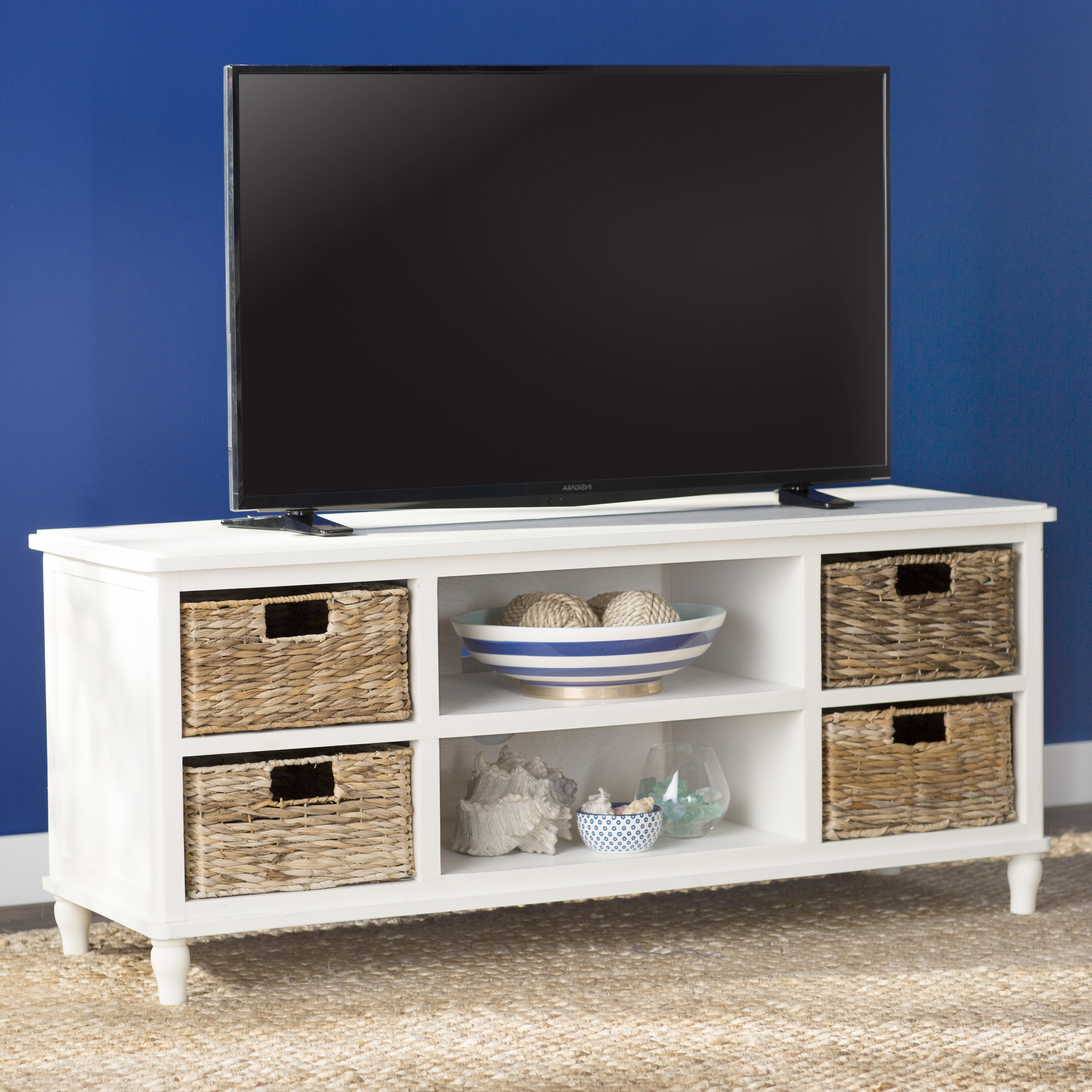 Wicker Rattan Tv Stands | Wayfair With Regard To Century Sky 60 Inch Tv Stands (View 18 of 20)