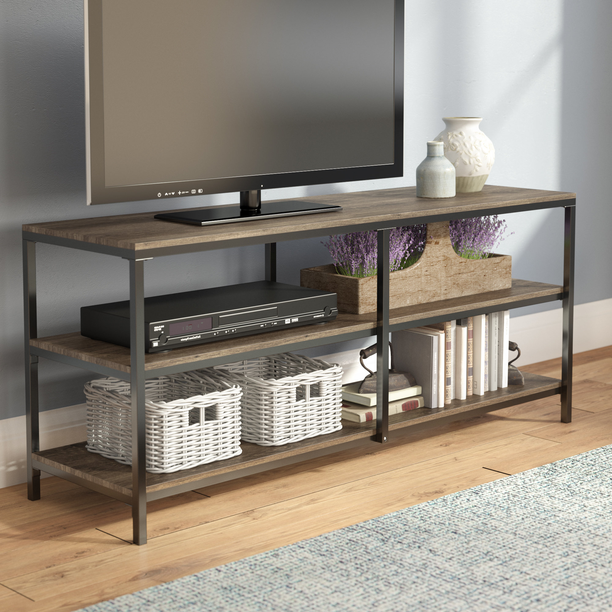 Wicker Rattan Tv Stands | Wayfair Within Century Sky 60 Inch Tv Stands (View 20 of 20)
