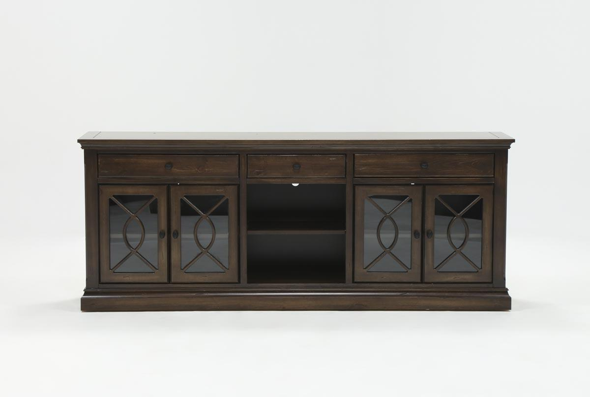 Willa 80 Inch Tv Stand | Living Spaces Intended For Abbott Driftwood 60 Inch Tv Stands (View 8 of 20)