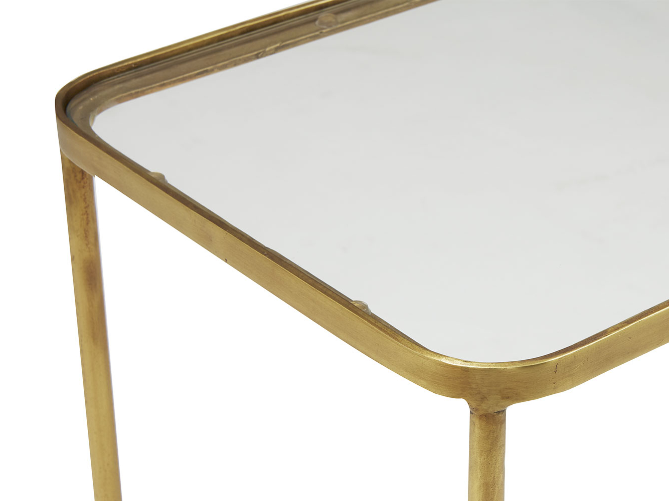 Wonder Full Console Table | Brass And Glass Console Table | Loaf With Roman Metal Top Console Tables (View 18 of 20)