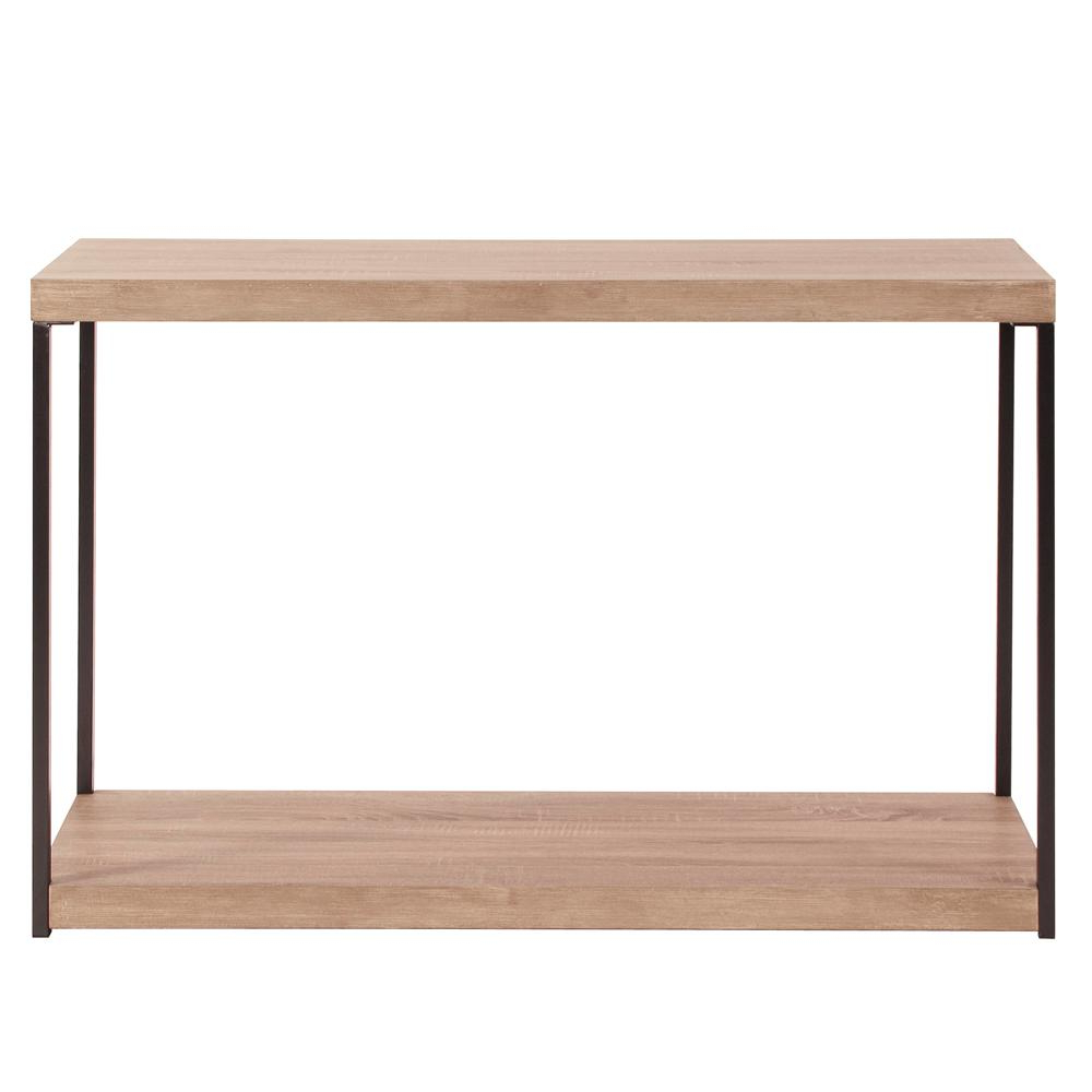 Wood And Metal Console Table 83036 – The Home Depot Regarding Hand Carved White Wash Console Tables (Gallery 13 of 20)