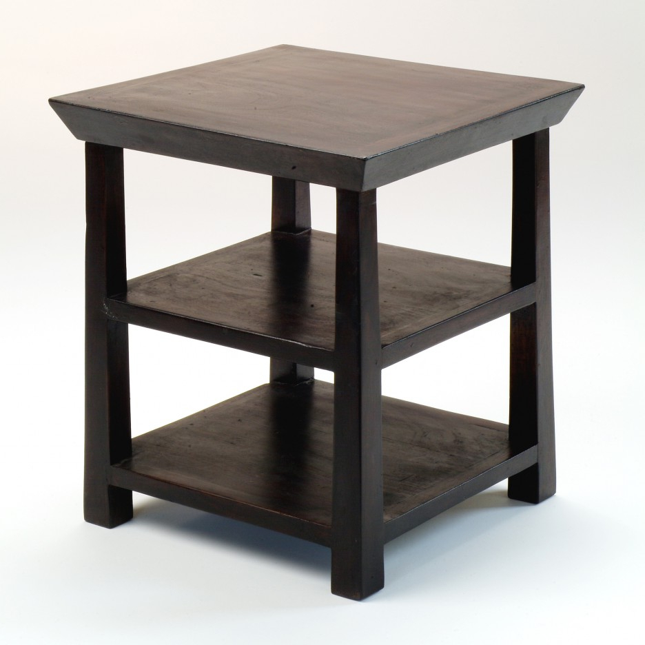 Wood Log End Table : The Super Free Target Black Side Table Photos Inside Layered Wood Small Square Console Tables (View 16 of 20)