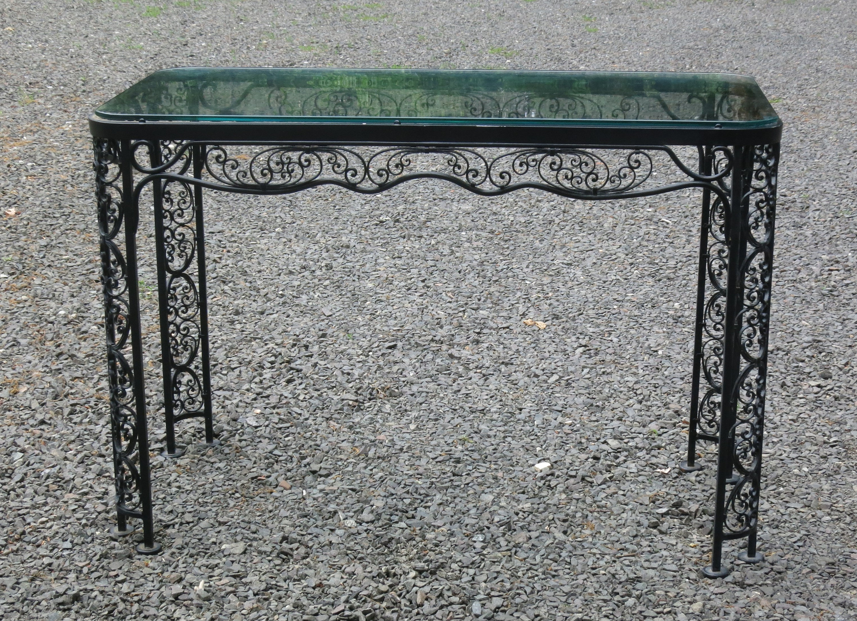 Woodard Andalusian Console Table Vintage Patio For Switch Console Tables (View 20 of 20)