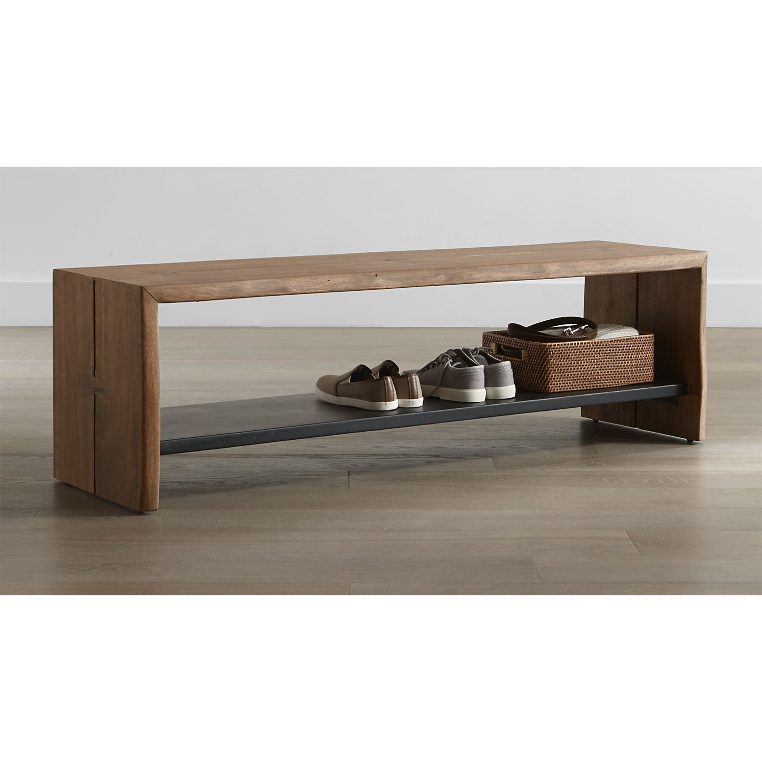 Yukon Entryway Bench With Shelf | Pinterest | Entryway Bench, Crates In Yukon Grey Console Tables (View 9 of 20)