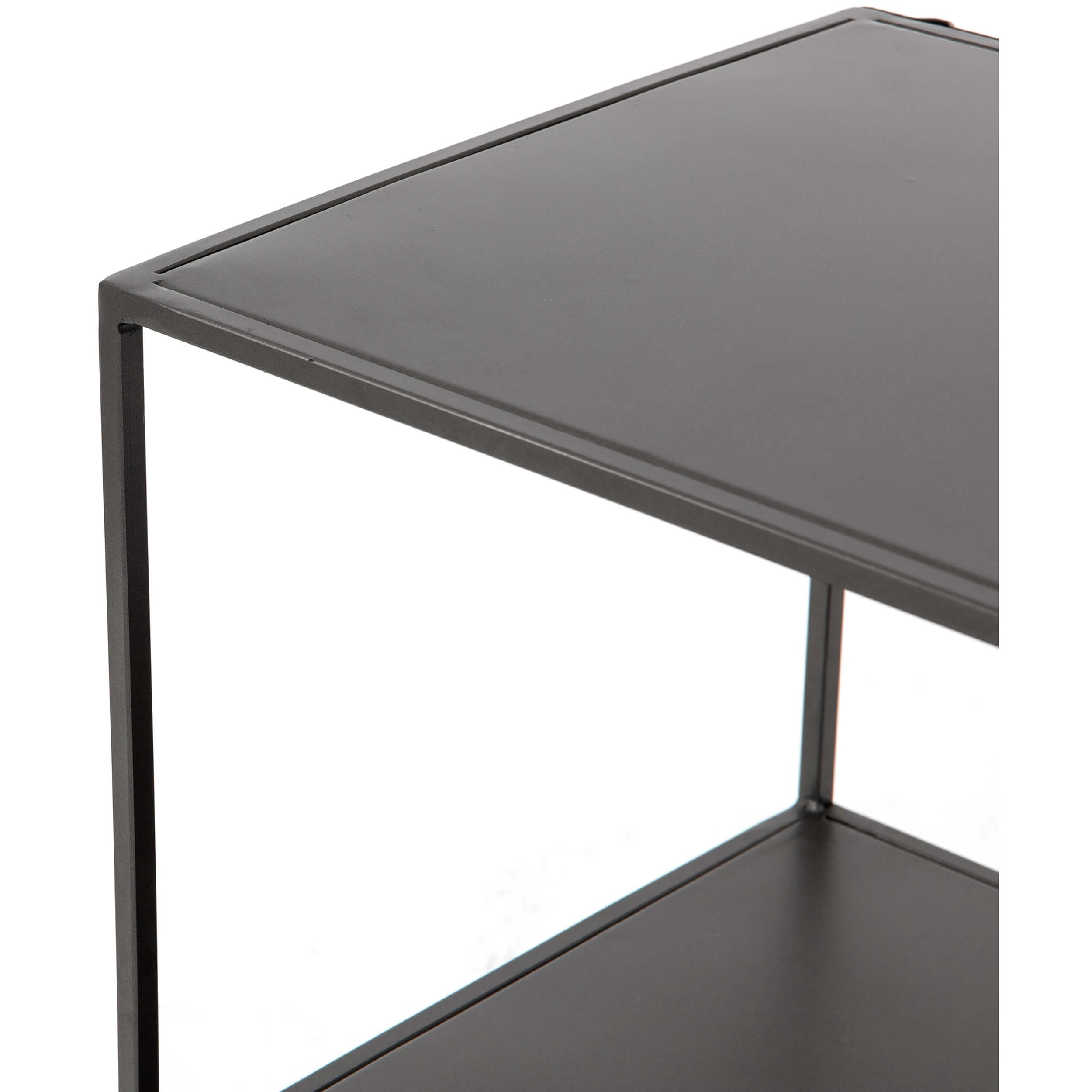Zadie Media Console – Media – Storage – Furniture Within Gunmetal Perforated Brass Media Console Tables (Gallery 14 of 20)