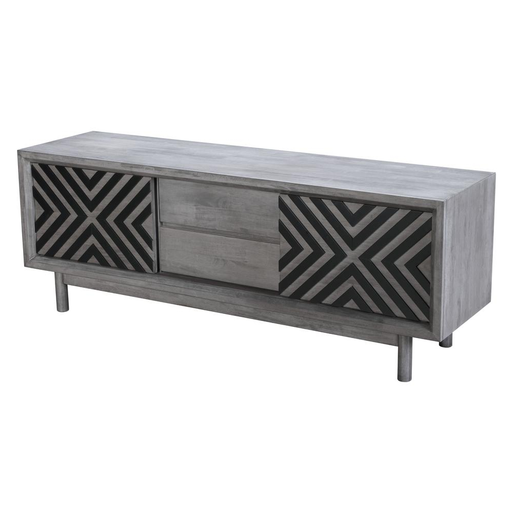 Zuo Raven Old Gray Tv Stand 100971 – The Home Depot Regarding Raven Grey Tv Stands (Gallery 1 of 20)