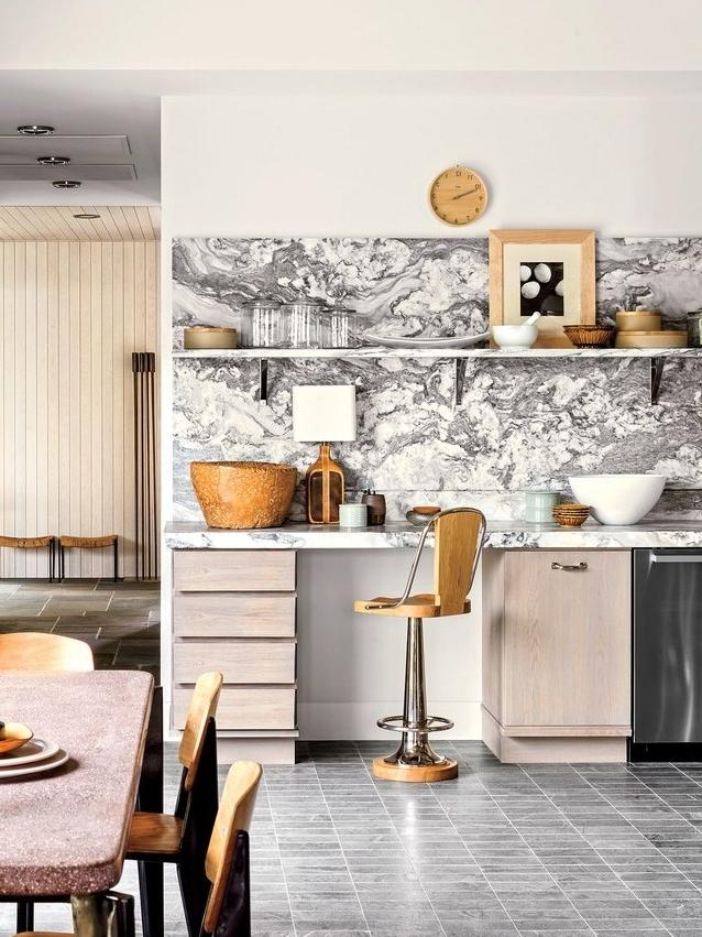 2019 23 Kitchen Tile Backsplash Ideas, Design, & Inspiration Regarding Presson 3 Piece Counter Height Dining Sets (View 2 of 20)