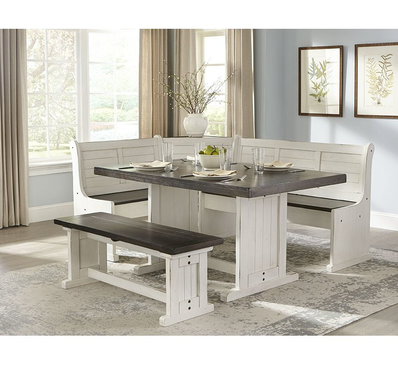 2019 5 Piece Breakfast Nook Dining Sets Within August Grove Villepinte 5 Piece Breakfast Nook Dining Set & Reviews (Gallery 1 of 20)